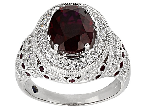 Photo of Vanna K™For Bella Luce ® 3.79ctw Lab Created Ruby And White Diamond Simulant Platineve®Ring - Size 8