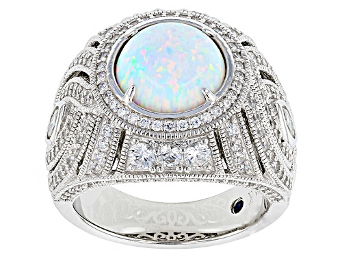 Photo of Vanna K ™ For Bella Luce ® 4.13ctw White Opal And White Diamond Simulants Platineve® Ring - Size 7