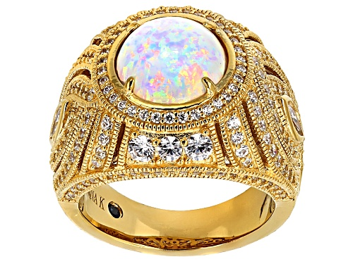 Photo of Vanna K™ For Bella Luce® 4.13ctw White Opal And White Diamond Simulants Eterno ™ Ring - Size 7