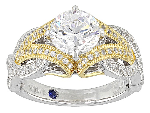 Photo of Vanna K ™ For Bella Luce ® 3.65ctw Platineve ™ And Eterno ™ Yellow Ring (2.54ctw Dew) - Size 8