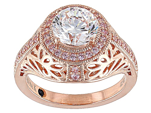 Photo of Vanna K™For Bella Luce® 3.59ctw Pink And White Diamond Simulants Eterno™ Rose Ring - Size 7