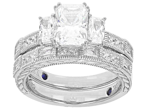 Photo of Vanna K ™ For Bella Luce ® 4.26ctw Platineve® Ring With Band (3.07ctw Dew) - Size 10