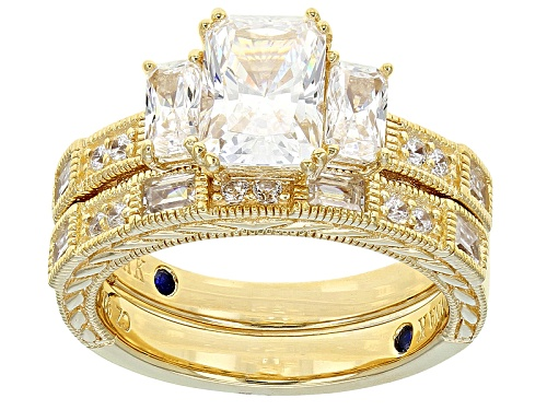Photo of Vanna K ™ For Bella Luce ® 4.26ctw Eterno ™ Yellow Ring With Band (3.07ctw Dew) - Size 10