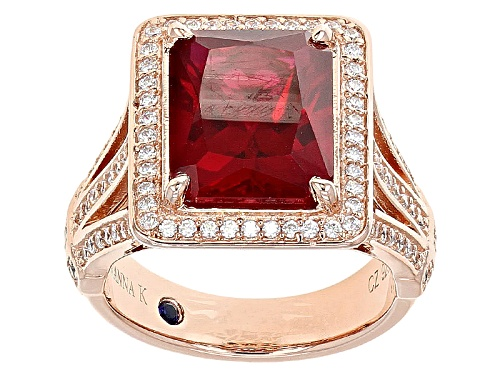 Photo of Vanna K ™ For Bella Luce ® 5.29ctw Ruby And White Diamond Simulants Eterno ™ Rose Ring - Size 12