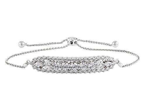 Photo of Vanna K ™ For Bella Luce ® 4.67ctw White Diamond Simulant Platineve® Adjustable Bracelet