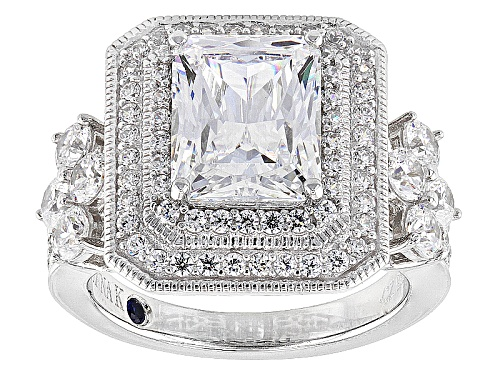 Photo of Vanna K ™ For Bella Luce ® 6.33ctw White Diamond Simulant Platineve® Ring (5.05ctw Dew) - Size 8