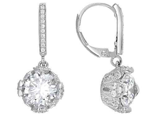 Photo of Vanna K ™ For Bella Luce ® 7.06ctw Diamond Simulant Platineve® Earrings (4.78ctw Dew)