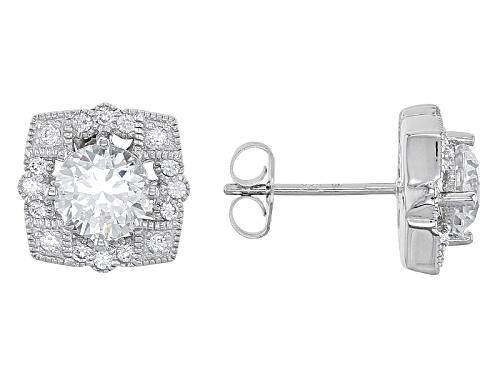 Photo of Vanna K ™ For Bella Luce ® 3.11ctw Diamond Simulant Platineve® Earrings  (2.00ctw Dew)