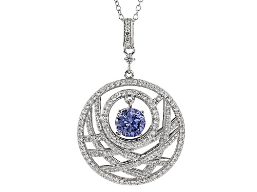 Photo of Vanna K ™ For Bella Luce ® 3.80ctw Tanzanite & Diamond Simulants Platineve ™ Pendant & Chain