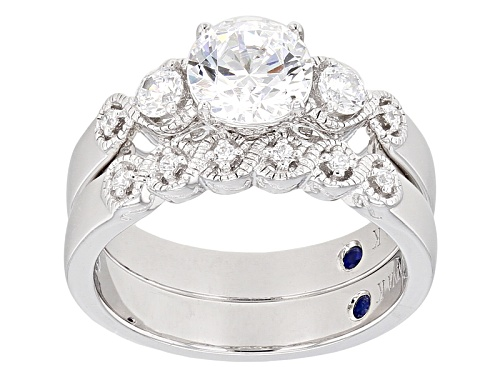 Photo of Vanna K ™ For Bella Luce ® 2.56ctw Diamond Simulant Platineve® Ring With Band (1.58ctw Dew) - Size 8