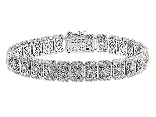 Photo of Vanna K ™ For Bella Luce® 11.28ctw White Diamond Simulant Platineve® Bracelet(6.46ctw Dew) - Size 7.25