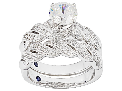 Photo of Vanna K ™ For Bella Luce ® 2.93ctw Diamond Simulant Platineve® Ring With Band (1.84ctw Dew) - Size 9