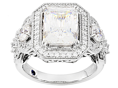 Photo of Vanna K ™ For Bella Luce ® 5.87ctw White Diamond Simulant Platineve® Ring (4.70ctw Dew) - Size 10