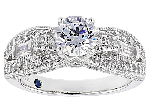 Photo of Vanna K ™ For Bella Luce ® 2.90ctw White Diamond Simulant Platineve® Ring (2.02ctw Dew) - Size 10