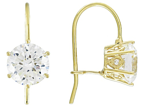 Photo of Vanna K ™ For Bella Luce ® 4.63ctw Diamond Simulant 10k Yellow Gold Earrings (2.62ctw Dew)