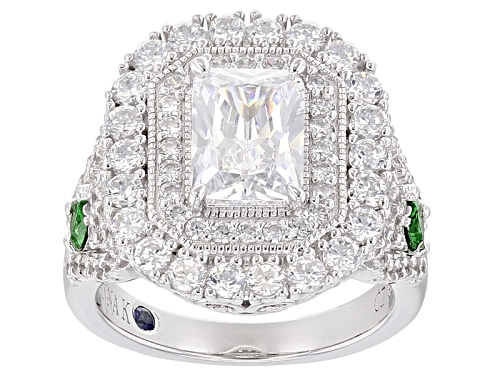 Photo of Vanna K ™ For Bella Luce ® 5.35ctw Emerald And White Diamond Simulants Platineve® Ring - Size 7