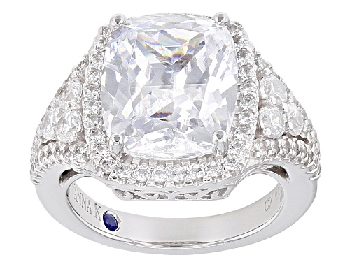 Photo of Vanna K ™ For Bella Luce ® 10.14ctw Platineve® Ring (7.00ctw Dew) - Size 8