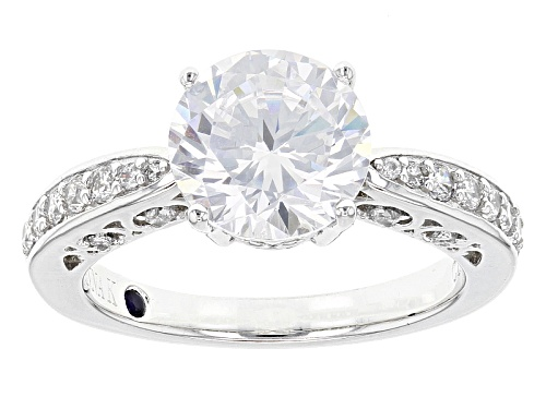 Photo of Vanna K ™ For Bella Luce ® 4.80ctw White Diamond Simulant Platineve® Ring (3.08ctw Dew) - Size 8