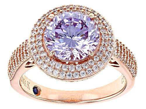 Photo of Vanna K ™ For Bella Luce ® 5.15ctw Lavender & White Diamond Simulants Eterno ™ Rose Ring - Size 7