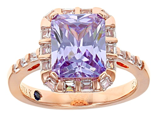 Vanna K ™ For Bella Luce ® 6.27ctw Lavender And White Diamond Simulants Eterno ™ Rose Ring - Size 8