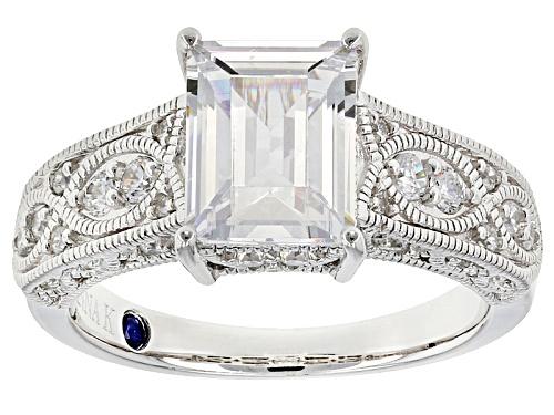 Photo of Vanna K ™ For Bella Luce ® 4.37ctw White Diamond Simulant Platineve® Ring (3.00ctw Dew) - Size 8