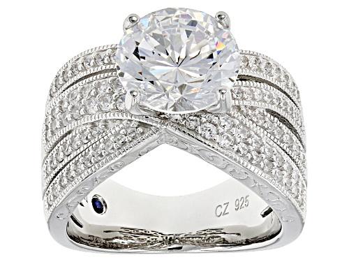 Photo of Vanna K ™ For Bella Luce ® 7.68ctw Vanna K Cut Diamond Simulant Platineve® Ring - Size 8