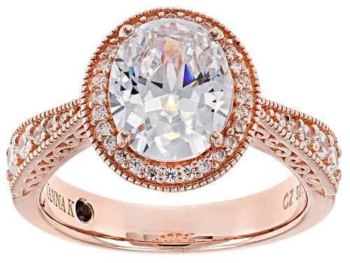 Photo of Vanna K ™ For Bella Luce ® 4.43ctw White Diamond Simulant Eterno ™ Rose Ring (2.88ctw Dew) - Size 7
