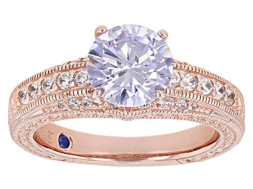 Photo of Vanna K ™ For Bella Luce ® 3.68ctw Lavender & White Diamond Simulants Eterno ™ Rose Ring - Size 10