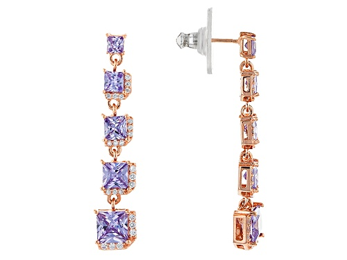 Photo of Vanna K ™ For Bella Luce ® 7.22ctw Lavender & White Diamond Simulants Eterno™ Rose Earrings