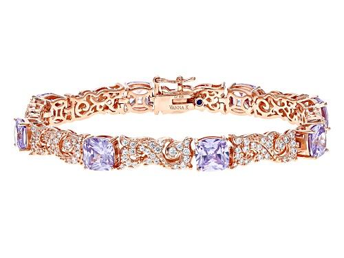 Photo of Vanna K ™ For Bella Luce ® 15.84ctw Lavender & Diamond Simulants Eterno ™ Rose Bracelet - Size 7.25