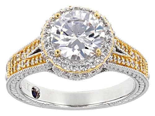 Photo of Vanna K ™ For Bella Luce ® 4.15ctw Diamond Simulant Platineve ™ & Eterno ™ Yellow Ring - Size 8