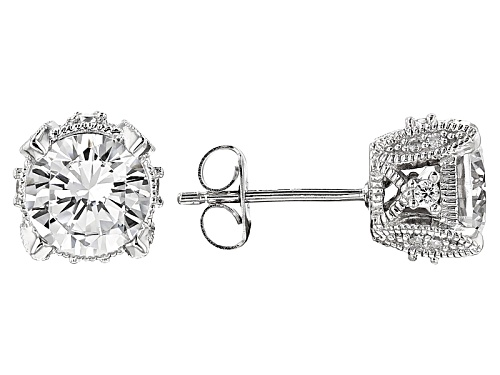 Photo of Vanna K ™ For Bella Luce ® 4.73ctw White Diamond Simulant Platineve® Earrings