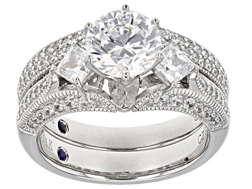 Photo of Vanna K ™ For Bella Luce ® 4.32CTW Diamond Simulant Platineve® Ring With Band - Size 8