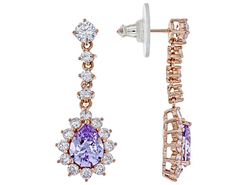 Vanna K ™ For Bella Luce®9.22CTW Lavender And White Diamond Simulant Eterno ™ Rose Earrings