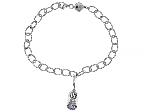 Photo of Vanna K™ For Bella Luce ® Lab Blue Spinel 0.15ctw Platineve ® Charm With Bracelet - Size 8
