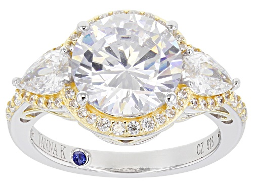 Vanna K ™ For Bella Luce ® 7.50ctw Platineve ® Ring (5.01ctw DEW) - Size 8