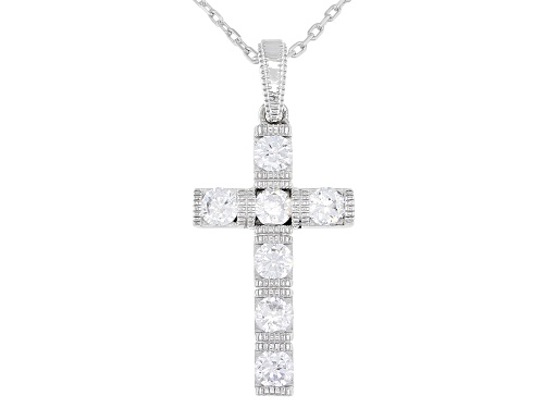 Photo of Vanna K ™ For Bella Luce ® 1.22ctw Platineve ® Cross Pendant With Chain (0.77ctw DEW)