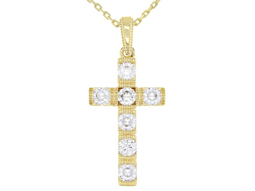 Photo of Vanna K ™ For Bella Luce ® 1.22ctw Eterno ™ Yellow Cross Pendant With Chain (0.77ctw DEW)