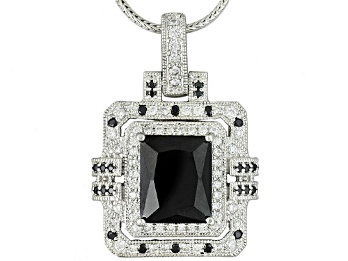 Photo of Kolore By Vanna K ™ 8.24ctw Black & White Diamond Simulant Platineve® Pendant With Chain