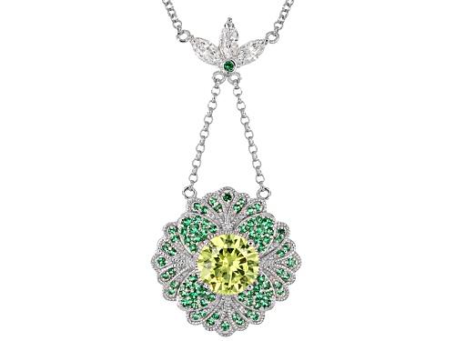 Photo of Kolore By Vanna K™ 5.78ctw Tsavorite,Sapphire Simulant & Diamond Simulants Platineve® Necklace - Size 18