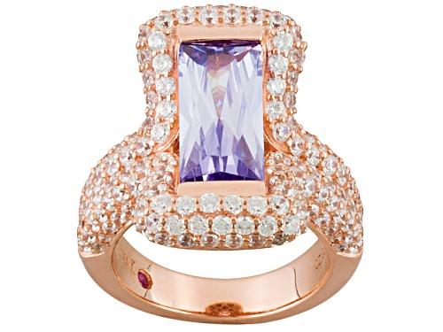 Photo of Kolore By Vanna K™8.49ctw Bella Luce ® Lavender & White Diamond Simulants Eterno™ Rose Ring - Size 8