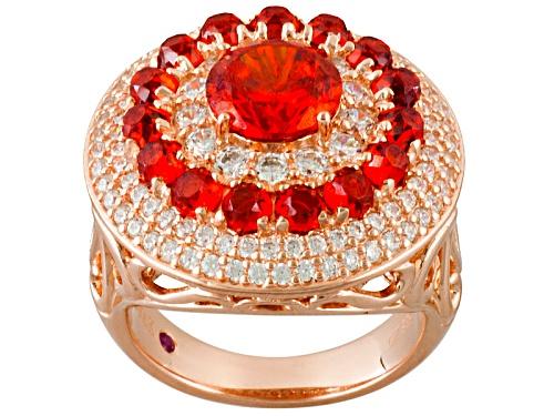 Photo of Kolore By Vanna K™ 8.16ctw Orange Sapphire Simulant & White Diamond Simulant Eterno™ Rose Ring - Size 8