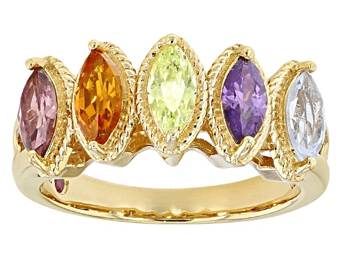 Photo of Kolore By Vanna K ™ 1.52ctw Multicolor Gem Simulants Eterno ™ Yellow Ring - Size 5