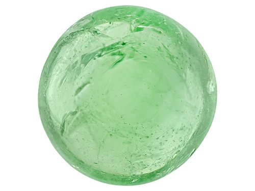 Photo of Tanzanian Mint Tsavorite Garnet-Fluorescent Min 2.50ct 8mm Round Cabochon