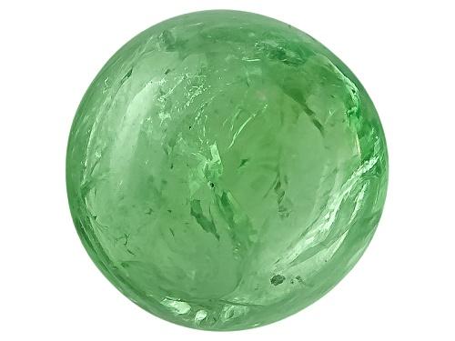 Photo of Tanzanian Mint Tsavorite Garnet-Fluorescent Min 3.00ct 8mm Round Cabochon