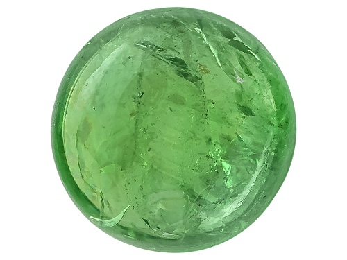 Photo of Tanzanian mint grossular garnet 3.97ct 9mm round cabochon