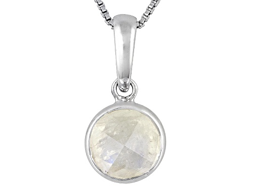 Photo of Brazilian Citrine 1.87ct Round Checkerboard Sterling Silver Pendant With Chain