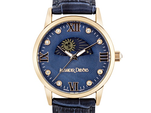 Photo of Alexander Dubois Ladies Leather Watch With Blue Dial