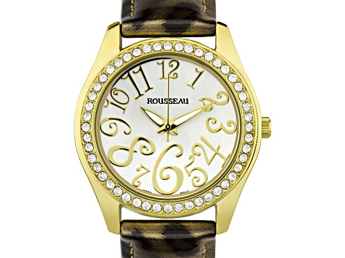 Photo of Rousseau Calame Ladies Watch Leopard Pattern Genuine Leather