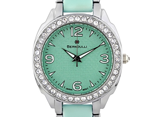Photo of Bernoulli Daeva Ladies Watch Silver Bracelet Green Dial